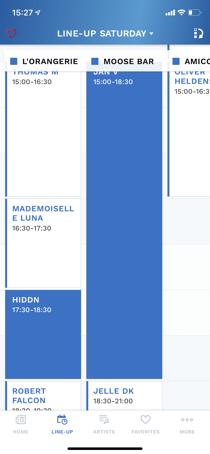 Appmiral - schedule view