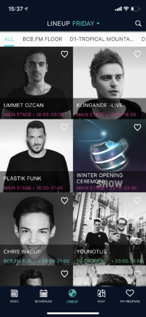 Appmiral - lineup view